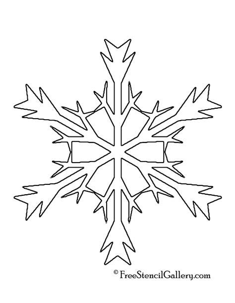 printable stencils of snowflakes snowflake stencil 05 free stencil gallery