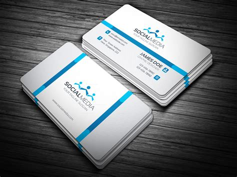 Business Card Template Social Media Free by Social Media Business Card Template Template Catalog