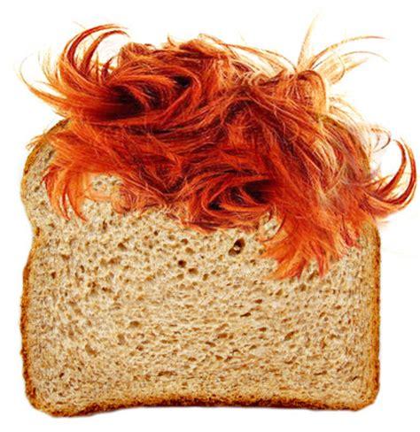 hair bread bread funny ginger gingerbread hair orange image