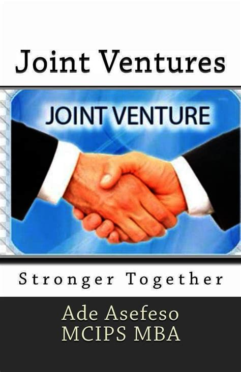 Io Psychology Mba Dual Degree by Read Joint Ventures Stronger Together By Ade Asefeso