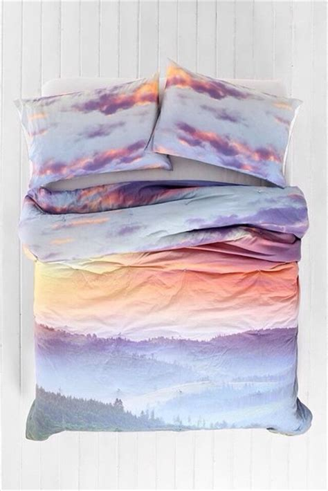 sky bedding top sunset sunset print bedspread bedcover bedding holiday gift bedding clouds