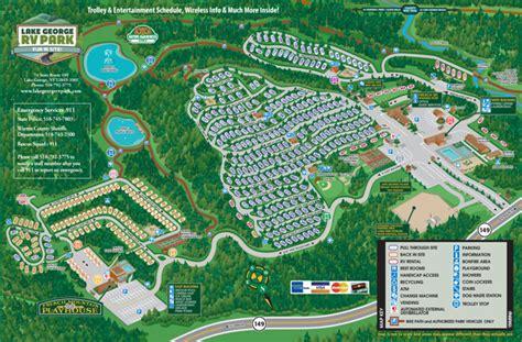 map usa rv parks explore lake george rv park csites amenities