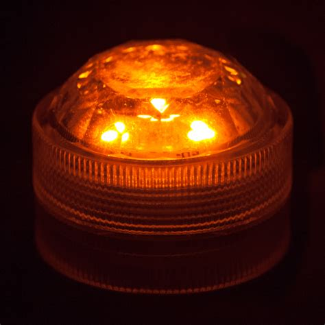 orange submersible triple led light