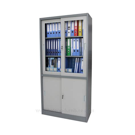 Rak Kabinet Besi lemari arsip tipe sliding door hefeng furniture