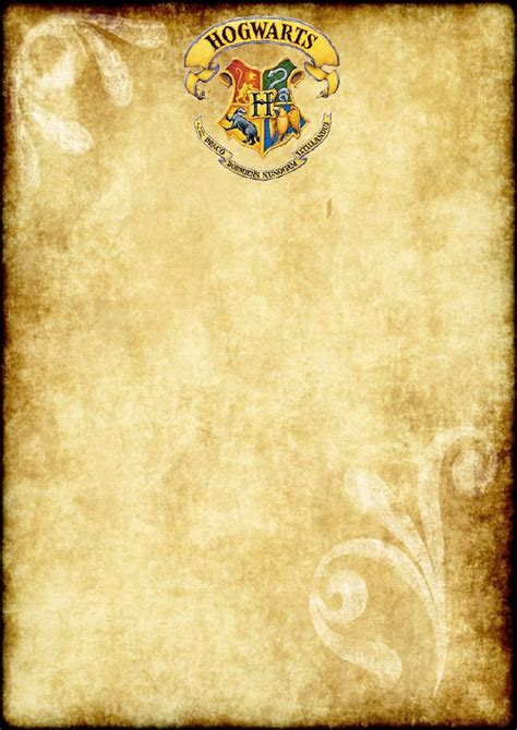 free harry potter place card template free printable harry potter blank parchment a4 size