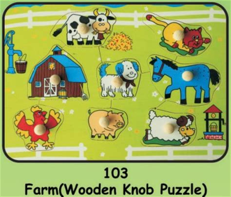Puzzle Knob Farm wooden knob puzzles for toddlers wooden peg puzzles for 1 to 3 year children