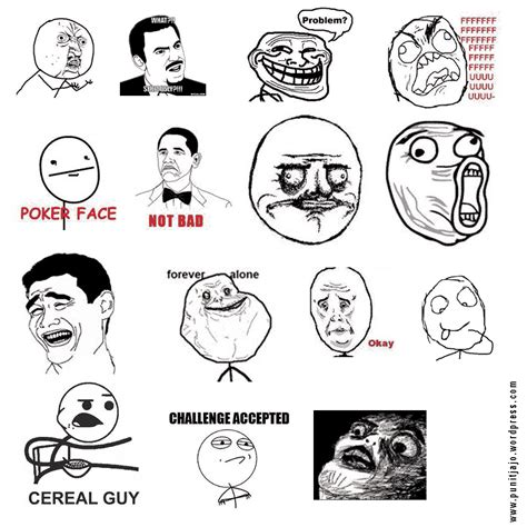 List Of Meme Faces - troll faces meme list www pixshark com images