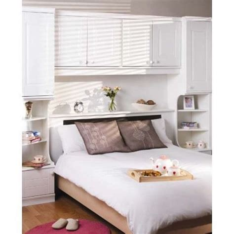 White Corner Unit Bedroom Furniture White Overbed Unit Corner Wardrobe Bedroom Set In Home Bedroom Furniture Pinterest