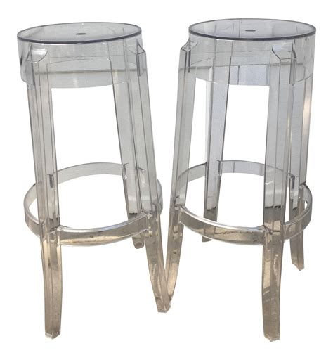 Transparent Bar Stools by Kartell Charles Ghost Transparent Bar Stool A