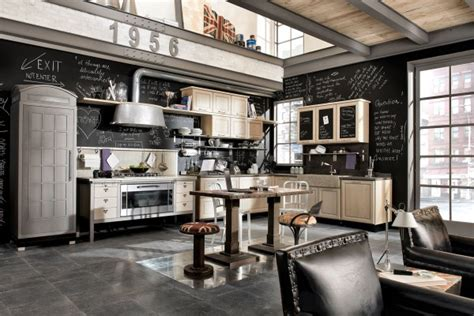 industrial look vintage and industrial style kitchens by marchi group adorable home