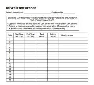 Driver Log Book Template by Sle Daily Log Template 15 Free Documents In Pdf Word