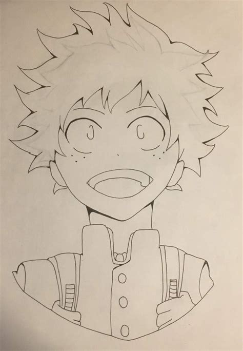 My Hero Academia: Deku Drawing Process   Anime Amino