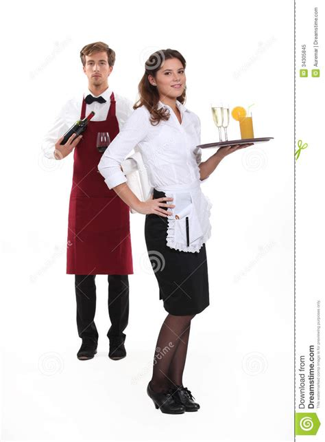 waiter and waitress royalty free stock photo image 34305845