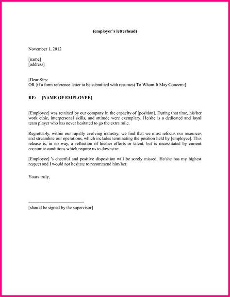 Reference Letter From Last Employer 14 Sle Employer Recommendation Letter