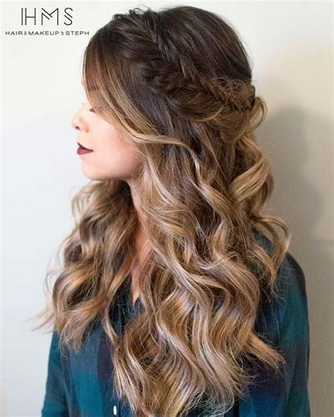 evening hairstyles on pinterest 27 gorgeous prom hairstyles for long hair fishtail