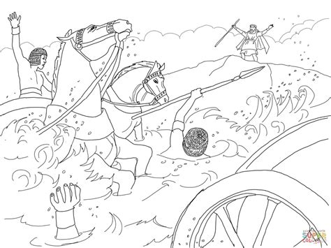 coloring pages crossing the red sea coloring home