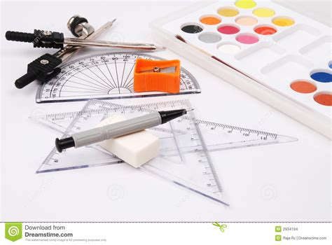 5 Drawing Materials by Drawing Materials Stock Photo Image Of School Artist