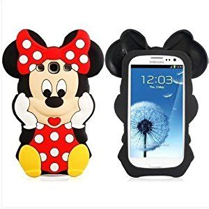 Samsung Grand Prime 3d Silicone Mickey Minnie 1 Mouse Back Cover T19 4 disney 3d minnie mouse silicone soft cover for samsung galaxy s3 iii i9300 co uk