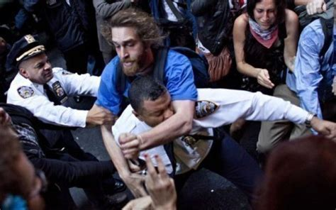 Assaulting An Officer violence at occupy wall fort liberty