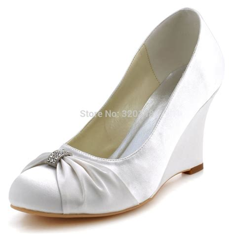 popular ivory wedge bridal shoes buy cheap ivory wedge