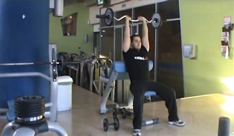 seated barbell overhead triceps extension bodybuilding