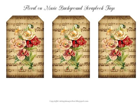 printable tags scrapbooking 9 best images of scrapbooking vintage tags free printables