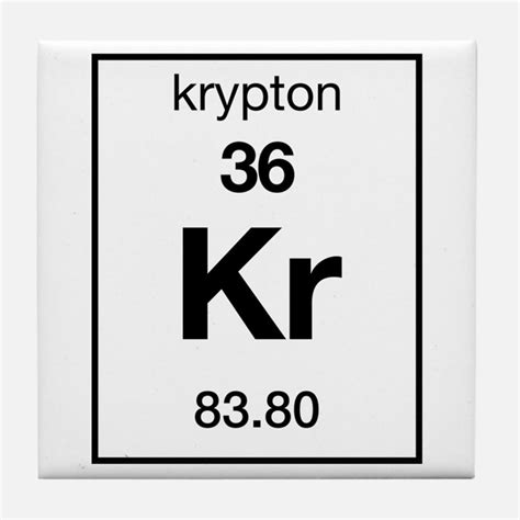 Kr Periodic Table by Periodic Table Krypton Coasters Cork Puzzle Tile