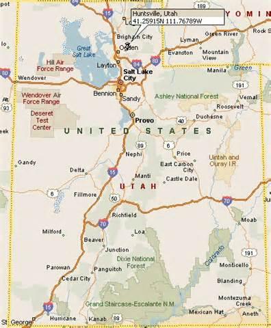 huntsville utah map