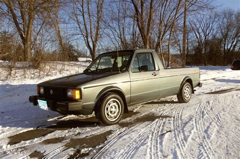 volkswagen rabbit truck 1982 1982 volkswagen rabbit pickup black tie special edition