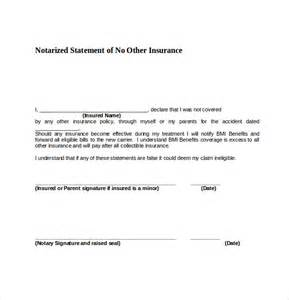 notarized document template 9 sle notary statements free sle exle format