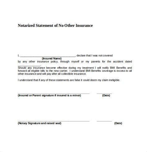 notary section 9 sle notary statements free sle exle format