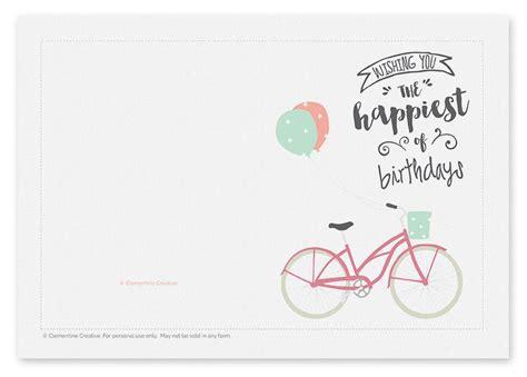 cute woodland birthday card printable free birthday printables