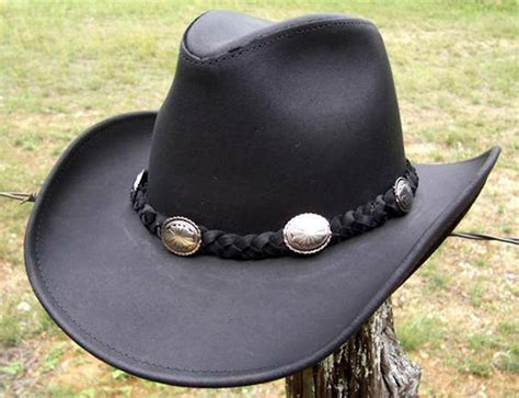 usa made henschel hat dude cowhide black leather western - Cowhide Cowboy Hats