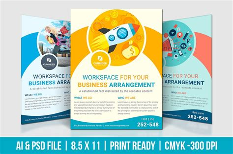 digital marketing flyer flyer templates creative market