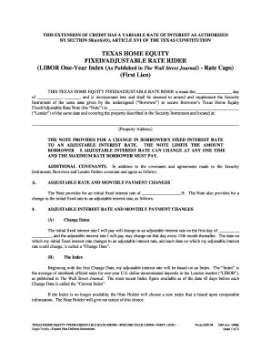 texas constitution article xvi section 50 a 6 fillable online texas riders and addenda form 3187 44