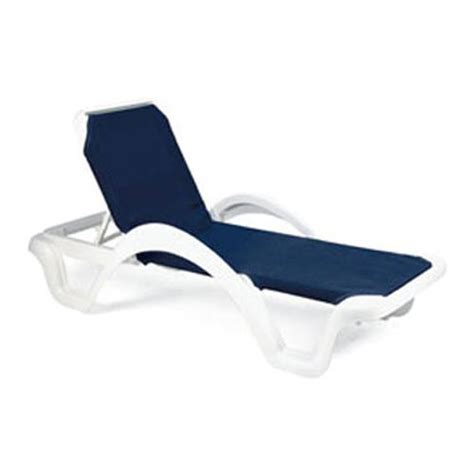 chaise lou grosfillex us202006 blue white catalina sling chaise