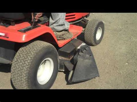 mtd riding lawn mower rear bagger mtd twin rear bagger oem 190 180a review and installati