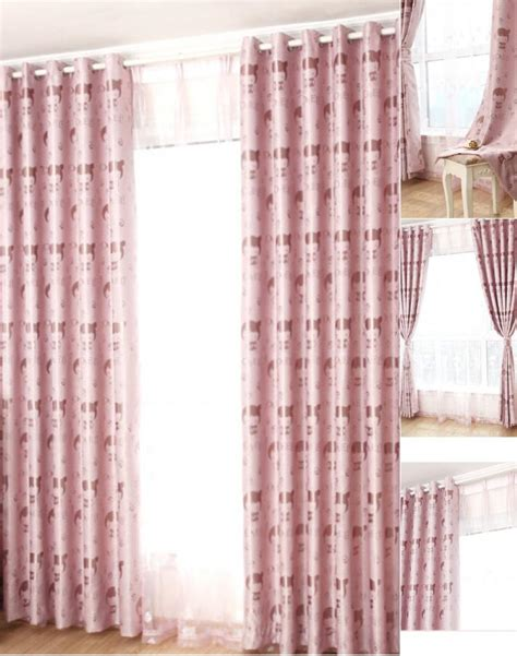 pink patterned blackout curtains cute cartoon pattern pink blackout insulated curtains