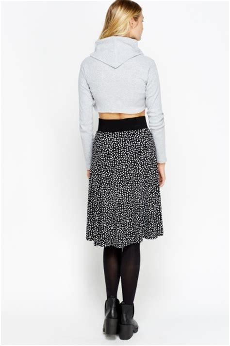 swing midi skirt black printed swing midi skirt just 163 5