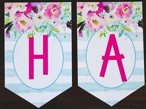 printing birthday banner free printable happy birthday banners pink