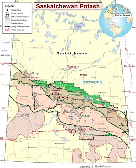 Lookup Sask Map Of Potash Mines In Saskatchewan Search Engine At Search