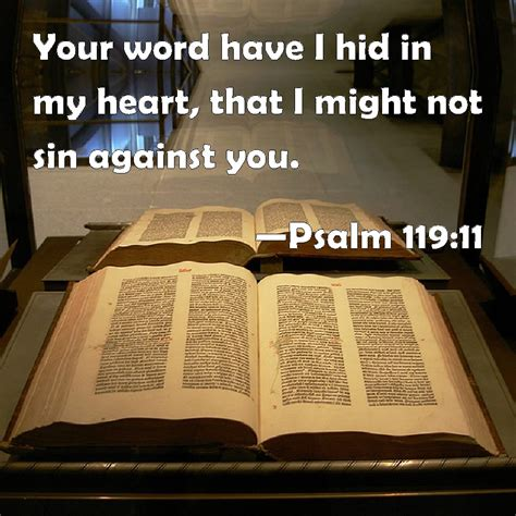 thåy iãn psalm 119 11 your word i hid in my that i