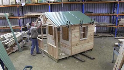 how to design houses how to build a cubby house roof part 1 youtube
