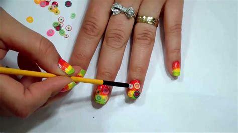 imagenes de uñas decoradas masglo u 241 as con frutas colores llamativos para verano o primavera