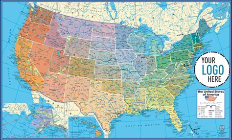 geographical map of the united states of america gabelli us inc v3 2013