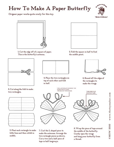 How To Make A Paper Origami Butterfly - paper butterflies