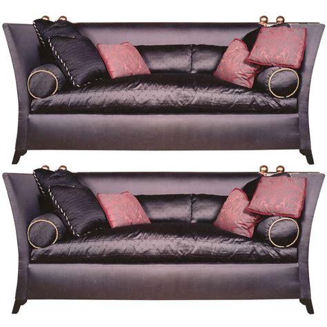 silk sofa chic designer custom knole style bergamo silk sofas pair