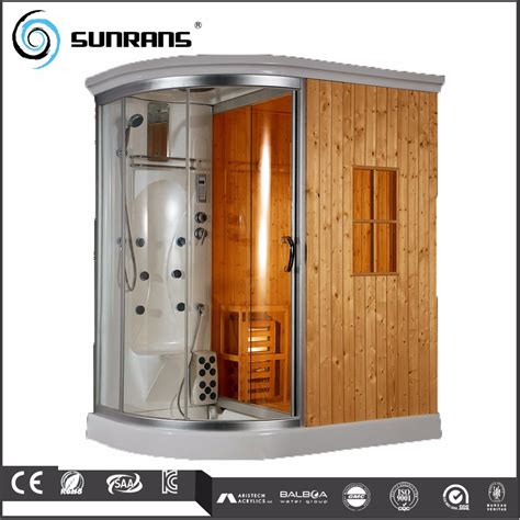 steam shower bath cabin steam shower bath sauna combo wooden steam cabin box buy