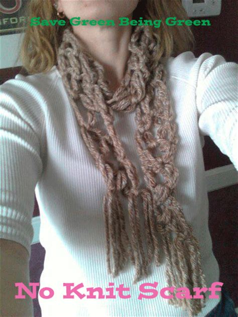 no knit scarf save green being green inspired craft projects