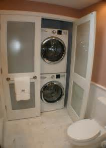 Master bath laundry transitional laundry room boston by